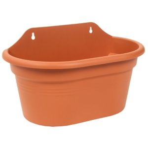 View Wall Basket Stackable Duo Planter Terracotta, (H)20.6cm (L)29.5cm details