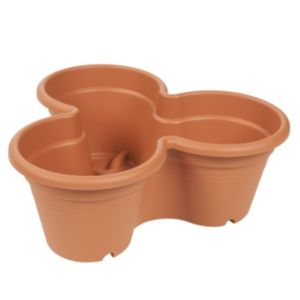 View Stackable Plastic Terracotta Planter (H)16.3cm (L)46cm details