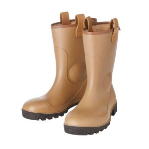 View Dunlop Black & Tan 100% Waterproof Steel Toe Cap PVC Rigger Boots, Size 8 details