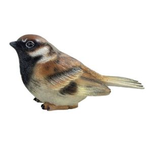 Photo of Sitting male sparrow garden ornament