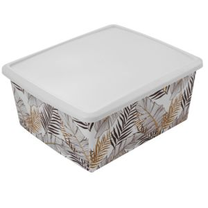 Image of CLC Strong White 17L Plastic Stackable & nestable Storage box