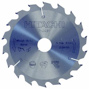 View Hitachi Circular Saw Blade (Dia)185mm details