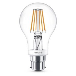 Image of Philips B22 806lm LED Dimmable GLS Light Bulb