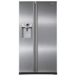 View Samsung RSG5UURS1 Silver Freestanding Side By Side Fridge Freezer details