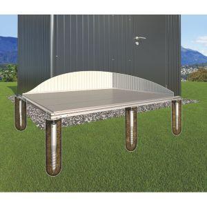 Image of Biohort Grey Ground screw foundation (H)17mm (L)2520mm