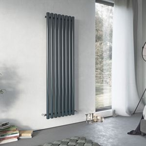 View Ximax Vulkan Vertical Radiator Anthracite, (H)1800 (W)435mm details