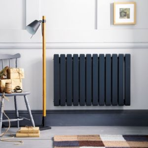 View Ximax Vulkan Square Horizontal Radiator Anthracite, (H)600 mm (W)1185mm details
