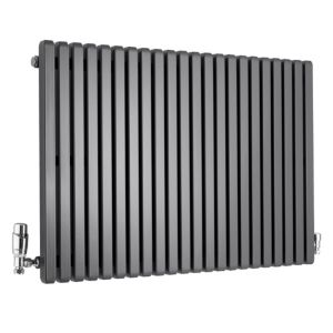 View Ximax Supra Square Horizontal Radiator Anthracite, (H)600 mm (W)870mm details