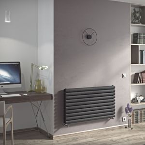 View Ximax Champion Duplex Horizontal Radiator Anthracite, (H)584 mm (W)1000mm details