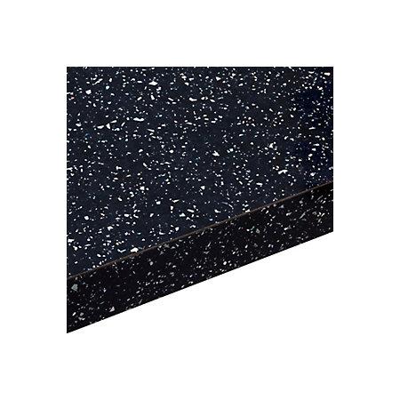 38mm Astral Black Gloss Square Edge Laminate Worktop L 3m