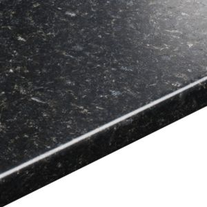 View 38mm B&Q Avalon Black Textured Laminate Round Edge Kitchen Breakfast Bar details