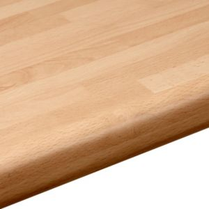 View 38mm B&Q Beech Block Laminate Round Edge Kitchen Worktop details