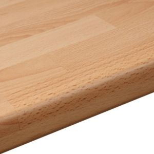 View 38mm B&Q Beech Butchers Block Laminate Round Edge Kitchen Worktop details