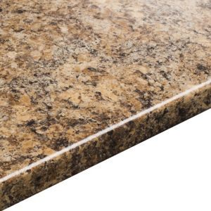 View 38mm IT Kitchens Butterum Etched Laminate Square Edge Kitchen Worktop details