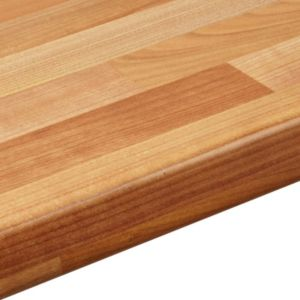 View 38mm IT Kitchens Light Cherry Block Laminate Square Edge Kitchen Worktop details