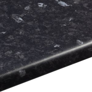 View 38mm B&Q Ebony Granite Satin Laminate Round Edge Kitchen Worktop details