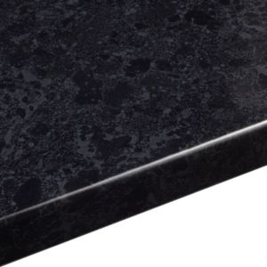 View 38mm B&Q Midnight Granite Gloss Laminate Round Edge Kitchen Worktop details