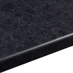 View 38mm B&Q Midnight Granite Laminate Round Edge Kitchen Worktop details