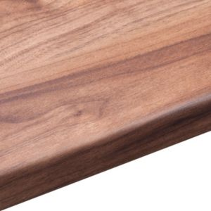 View 38mm B&Q Romantic Walnut Laminate Square Edge Kitchen Worktop details