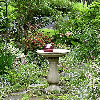 ornamental bird bath