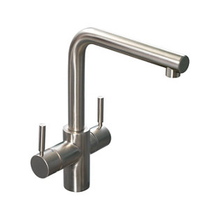 Image of InSinkErator 3N1 Stainless steel effect Filtered steaming hot & cold water tap