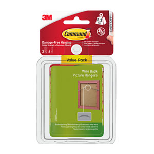 Image of 3M Command White Plastic Picture hanging Canvas hanger (H)85mm (W)100mm (Max. Weight)2.2kg Pack of 3