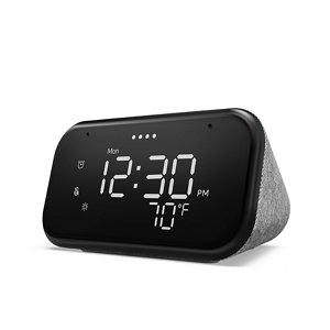 Image of Lenovo Smart clock with Google Assistant Grey