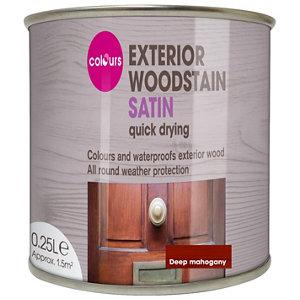 Colours Deep mahogany Satin Doors & windows Wood stain  250ml