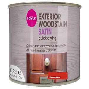 Colours Mahogany Satin Doors & windows Wood stain  250ml