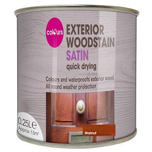 Colours Walnut Satin Doors & windows Wood stain  0.25L