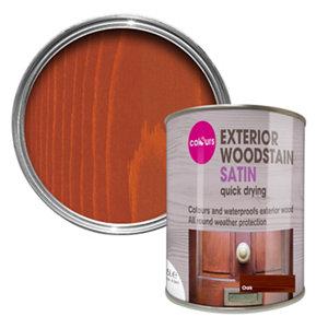 Colours Oak Satin Doors & windows Wood stain  750ml