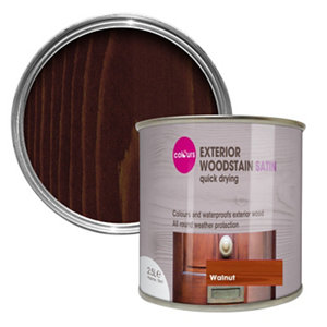 Colours Walnut Satin Doors & windows Wood stain  2.5L