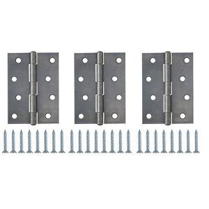 Steel Butt Door hinge (L)100mm N436  Pack of 3