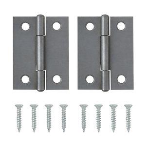 Steel Butt Door hinge (L)50mm NO85  Pack of 2