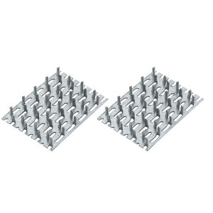 Image of Zinc Timber connector (L)70mm (W)50mm Pack of 4
