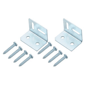 Zinc-plated Mild steel Angle bracket (H)38mm (W)29mm (L)29mm  Pack of 2