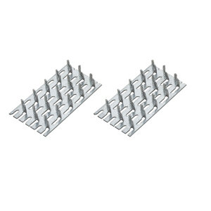 Image of Zinc Timber connector (L)70mm (W)38mm Pack of 4