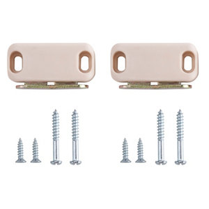 Image of Magnolia Carbon steel Magnetic Cabinet catch Pack of 2