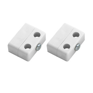 Image of White Polypropylene (PP) Assembly joint (L)36mm Pack of 8
