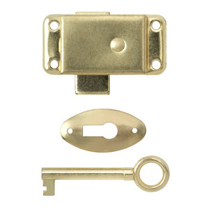 Image of B&Q Brass-plated Steel Cabinet catch
