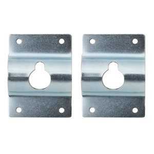 Zinc-plated Silver effect Picture hook  Pack of 2