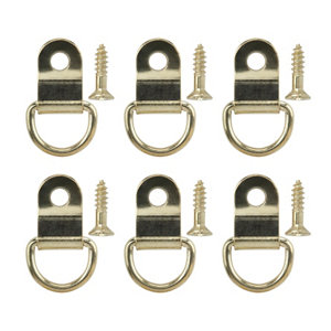 Brass-plated Small Picture hook  Pack of 6