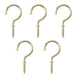 Image of Brass-plated Cup hook (L)46.5mm Pack of 25