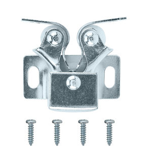 Image of Zinc-plated Carbon steel Double roller catch