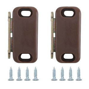 Image of Brown Carbon steel Magnetic Cabinet catch Pack of 2