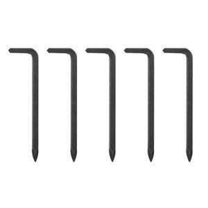 B&Q Black Carbon steel Medium Single Hook (H)10mm (W)11mm (Max)10kg  Pack of 5