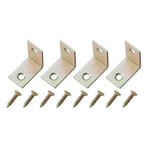 Image of Yellow Zinc-plated Mild steel Corner bracket (L)25mm Pack of 4