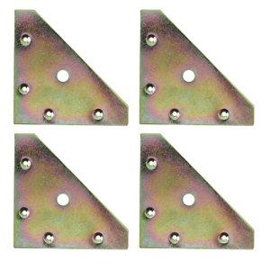 Image of Yellow Zinc-plated Mild steel Corner bracket (L)82mm Pack of 4