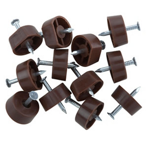 Image of Brown Metal Shelf support (L)15mm Pack of 12