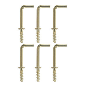 Image of Brass-plated Small Cup hook (L)30mm Pack of 6